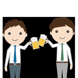 飲み会(男性)のシンプルイラスト