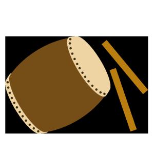 太鼓のシンプルイラスト