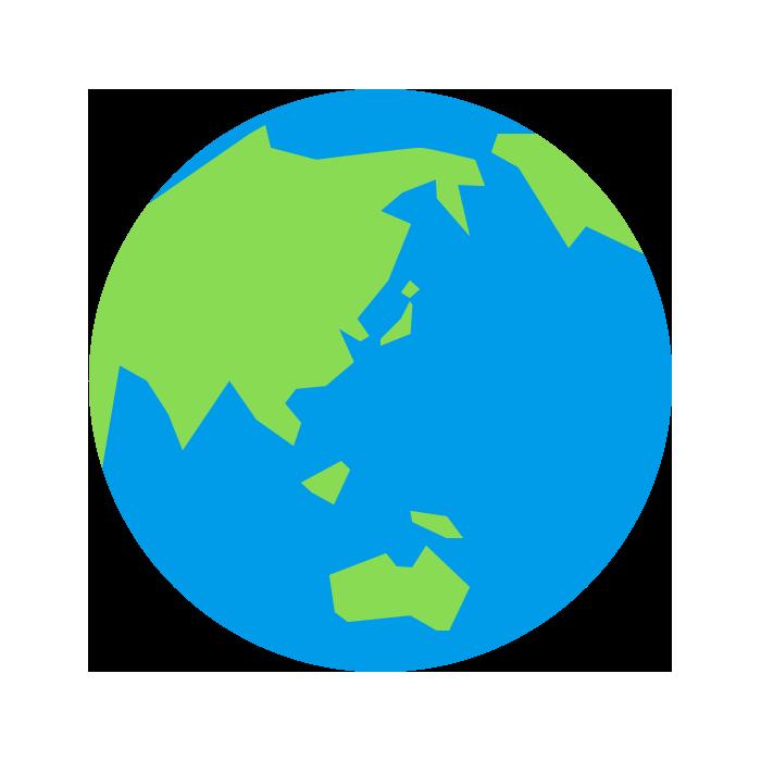 地球のシンプルイラスト 無料 イラストk