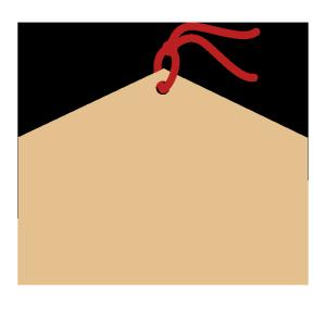 絵馬のシンプルイラスト