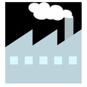 工場のシンプルイラスト