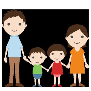家族のシンプルイラスト