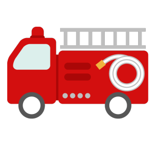 消防車のシンプルイラスト