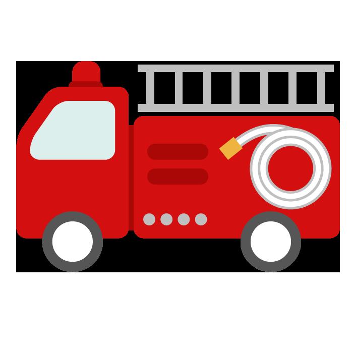 消防車のシンプルイラスト 無料 イラストk