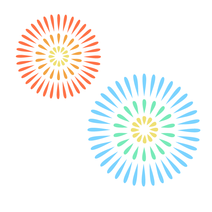 花火のシンプルイラスト02 無料 イラストk