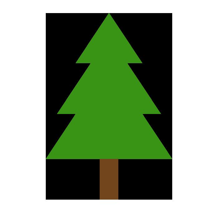 もみの木のシンプルイラスト 無料 イラストk
