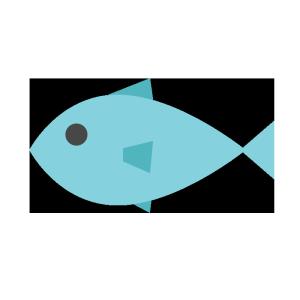 魚のシンプルイラスト