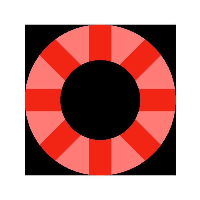 浮き輪赤のシンプルイラスト 無料 イラストk