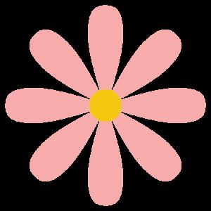 花(ピンク)のシンプルイラスト
