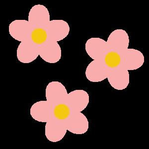 花(ピンク)のシンプルイラスト02