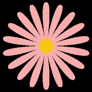 花(ピンク)のシンプルイラスト03
