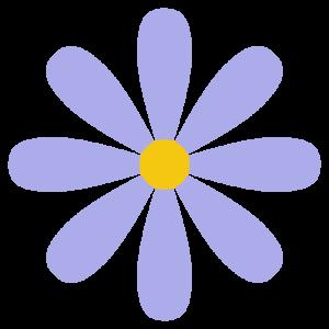 花(紫)のシンプルイラスト