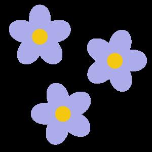 花(紫)のシンプルイラスト02