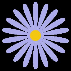 花(紫)のシンプルイラスト03