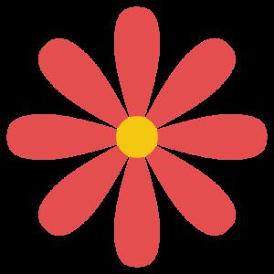 花(赤)のシンプルイラスト
