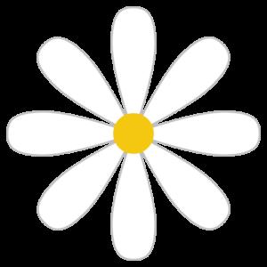 花(白)のシンプルイラスト