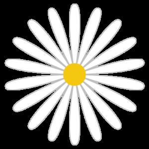 花(白)のシンプルイラスト03