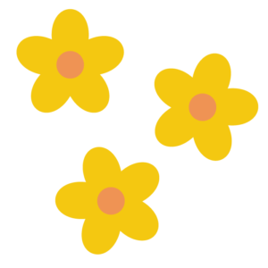 花(黄色)のシンプルイラスト02