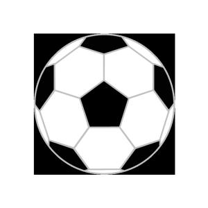 サッカーボールのシンプルイラスト