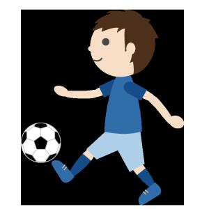 サッカー(男子)のシンプルイラスト