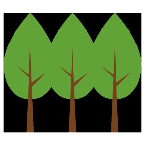 森のシンプルイラスト