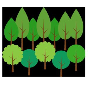 森のシンプルイラスト02