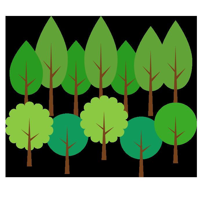 森のシンプルイラスト02 無料 イラストk