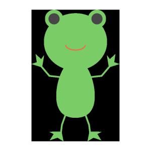 カエルのシンプルイラスト