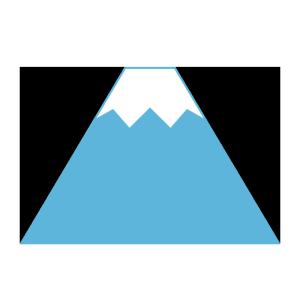 富士山のシンプルイラスト