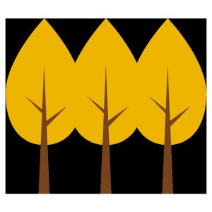 銀杏の木のシンプルイラスト
