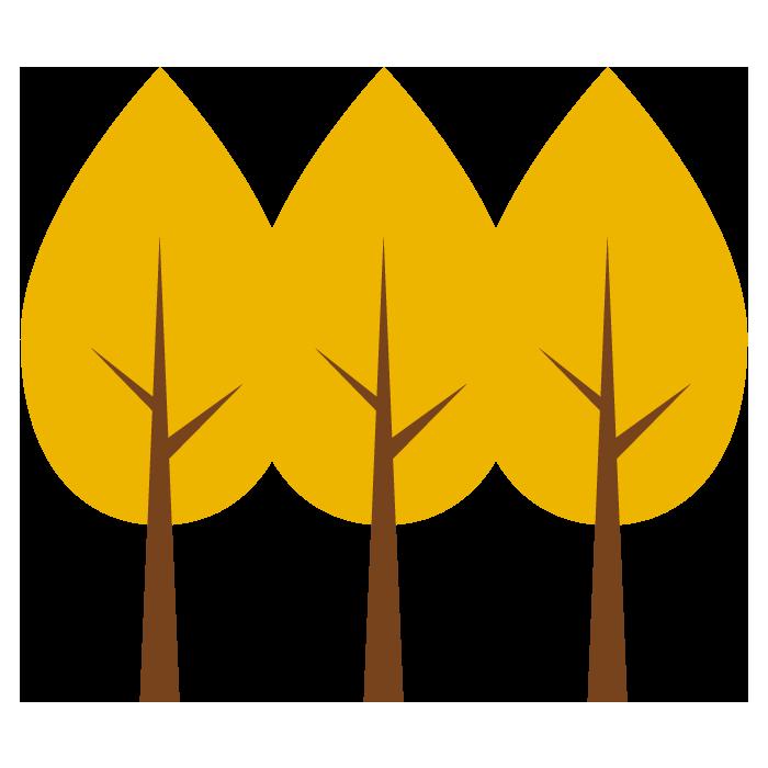 銀杏の木のシンプルイラスト 無料 イラストk