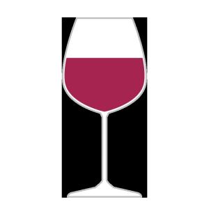 グラスワイン(赤)のシンプルイラスト
