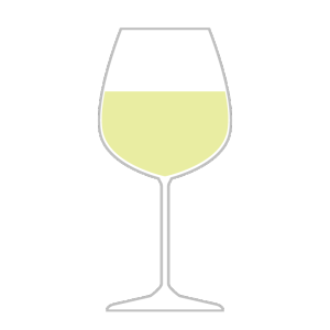 グラスワイン(白)のシンプルイラスト