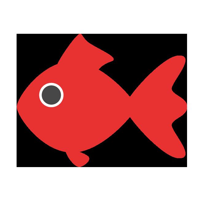 金魚のシンプルイラスト 無料 イラストk