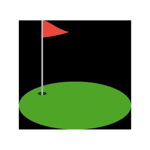 ゴルフのグリーンのシンプルイラスト
