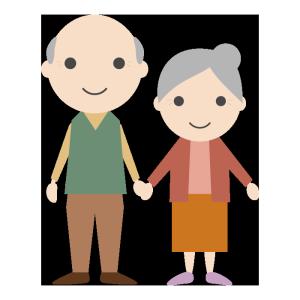 おじいちゃんとおばあちゃんのシンプルイラスト