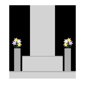 お墓のシンプルイラスト