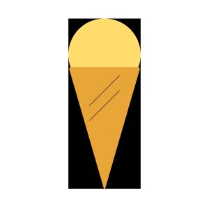 アイスクリーム(バニラ)のシンプルイラスト