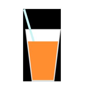 ジュースのシンプルイラスト