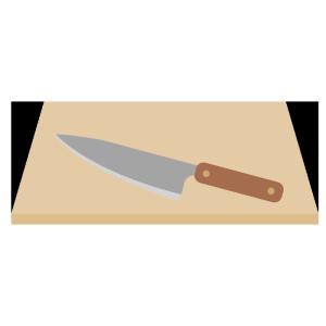 包丁とまな板のシンプルイラスト