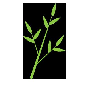 笹の葉のシンプルイラスト