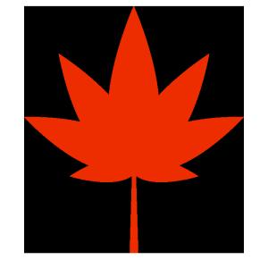 もみじ(赤)のシンプルイラスト