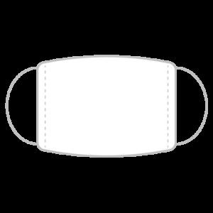 マスクのシンプルイラスト