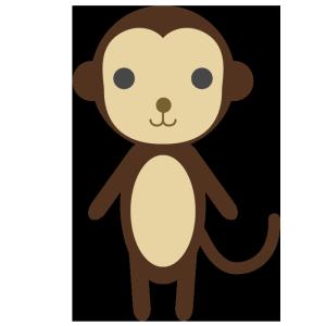 猿のシンプルイラスト