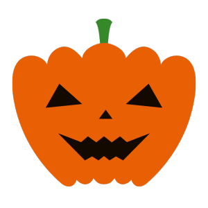 おばけかぼちゃのシンプルイラスト