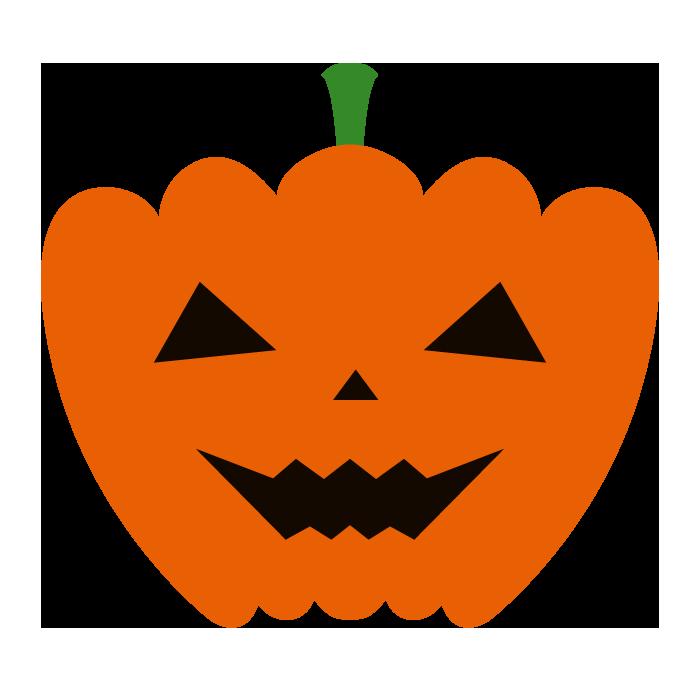 おばけかぼちゃのシンプルイラスト 無料 イラストk