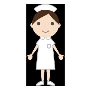 看護師のシンプルイラスト