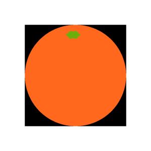 オレンジのシンプルイラスト