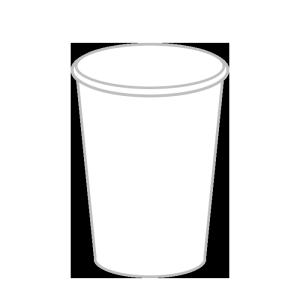 紙コップのシンプルイラスト