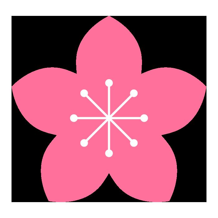 桃の花のシンプルイラスト 無料 イラストk